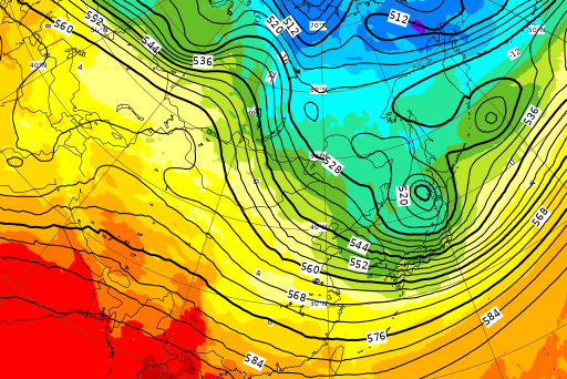 ECMWF Geopotential 500 hPa and temperature at 850 hPa(2019年3月12日版)_e0037849_07510734.png