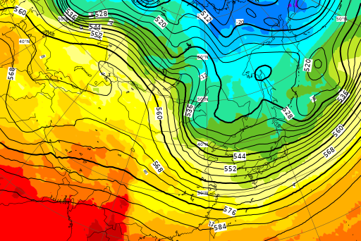 ECMWF Geopotential 500 hPa and temperature at 850 hPa(2019年3月12日版)_e0037849_07510777.png