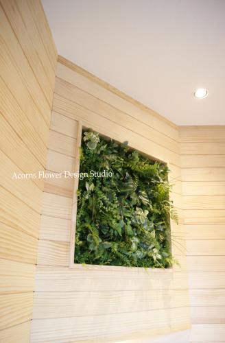 モデルルームの壁面グリーン_f0215262_01131445.jpg