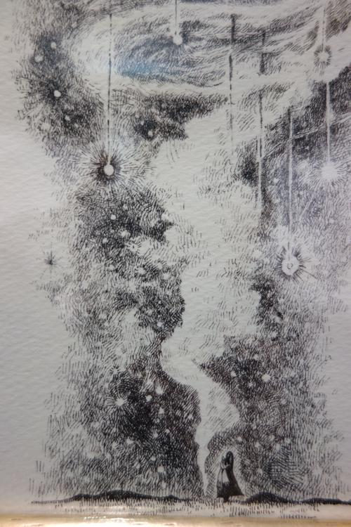 【氏峯麻里 作品展〜流星前夜】流星の壮大な物語を聴く_a0017350_05084905.jpg