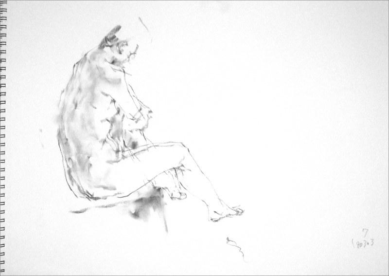 《 弥生三月裸婦素描 4 》_f0159856_08532777.jpg