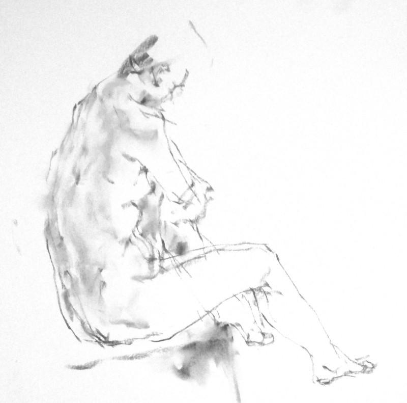 《 弥生三月裸婦素描 4 》_f0159856_08550189.jpg