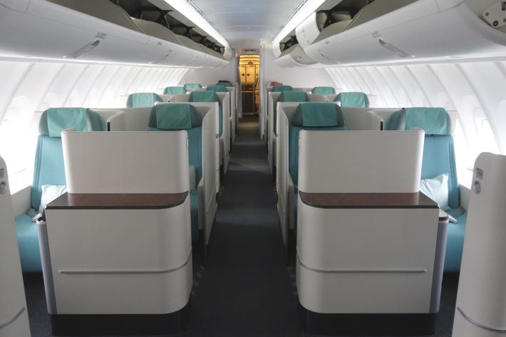 大韓航空 KE704便 成田ー仁川 ビジネスクラスの機内食と機材 B747-8i 2018年12月 大田・ソウルの旅(1)_f0117059_16440216.jpg