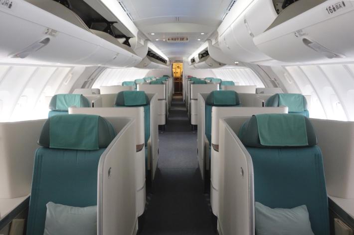 大韓航空 KE704便 成田ー仁川 ビジネスクラスの機内食と機材 B747-8i 2018年12月 大田・ソウルの旅(1)_f0117059_16442426.jpg
