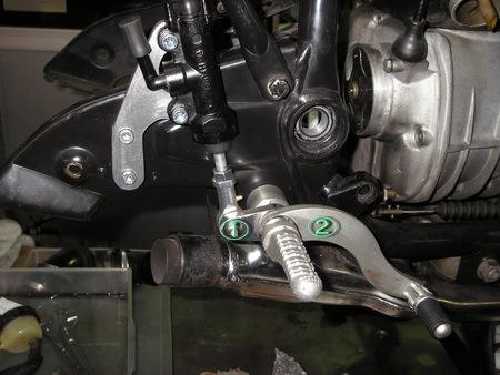 BMW R100RS改への道 8) バックステップの取り付け_e0218639_11045867.jpg