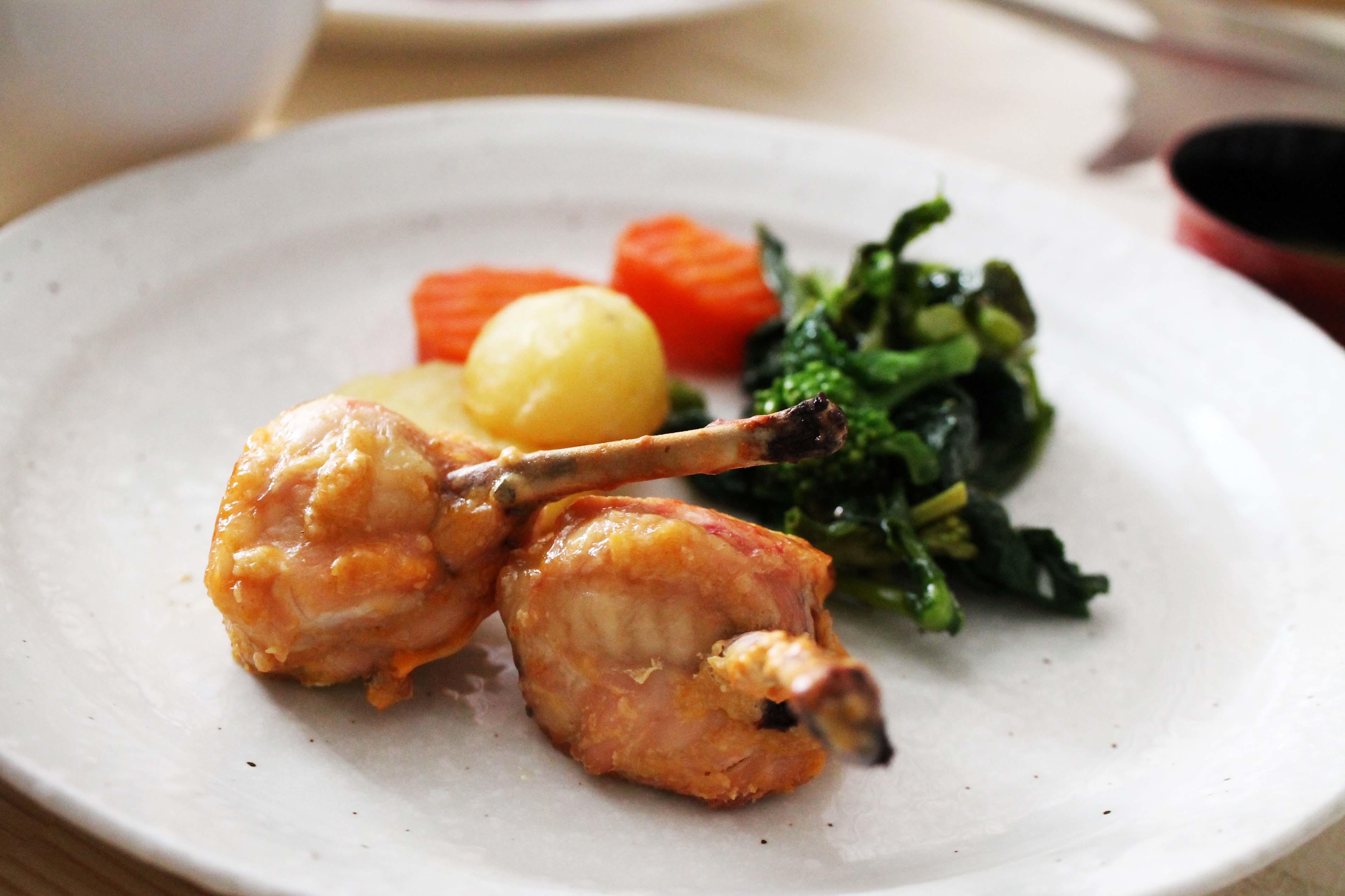 鶏のチューリップで「鶏天」_d0377645_22313860.jpg