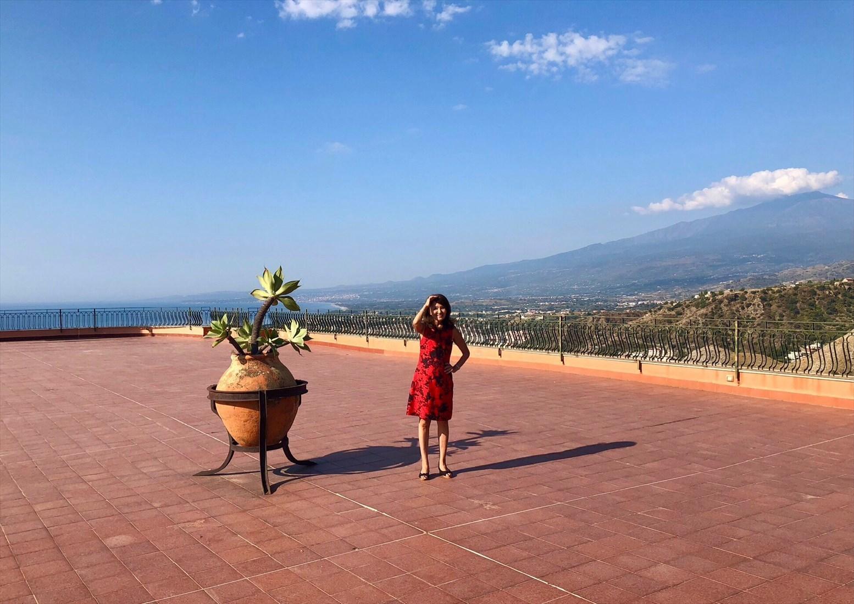 シチリア/41 タオルミーナのホテル Villa Diodoro_a0092659_22265768.jpg