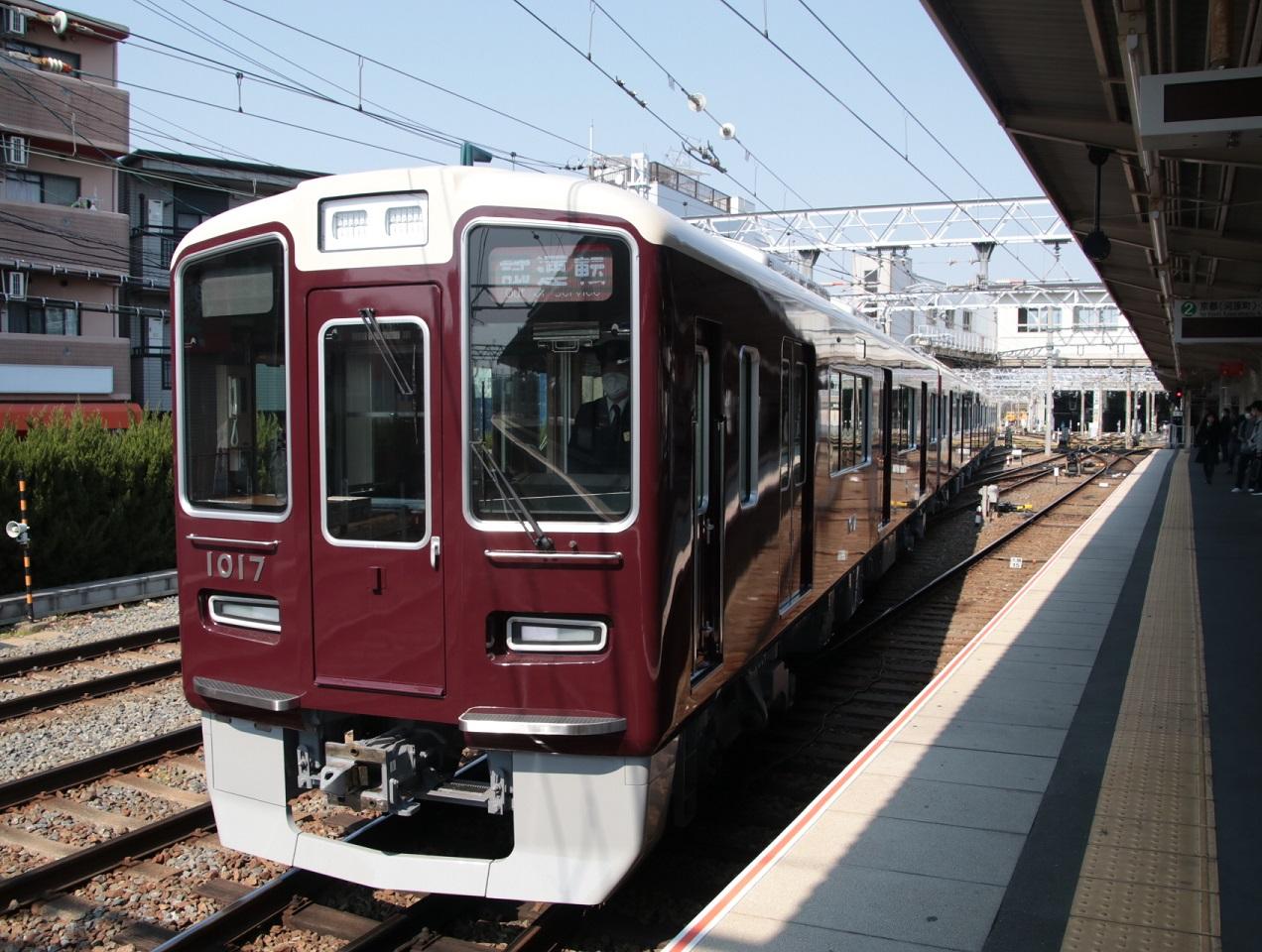 阪急1017F 新造車両試運転 _d0202264_1833866.jpg