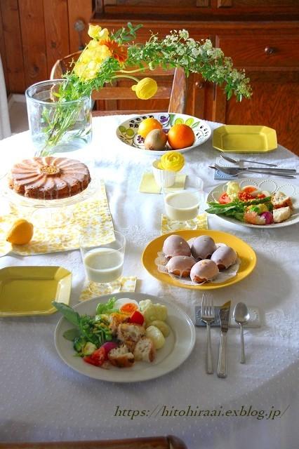 ニース風サラダでランチでイエローの食卓_f0374092_15263315.jpg