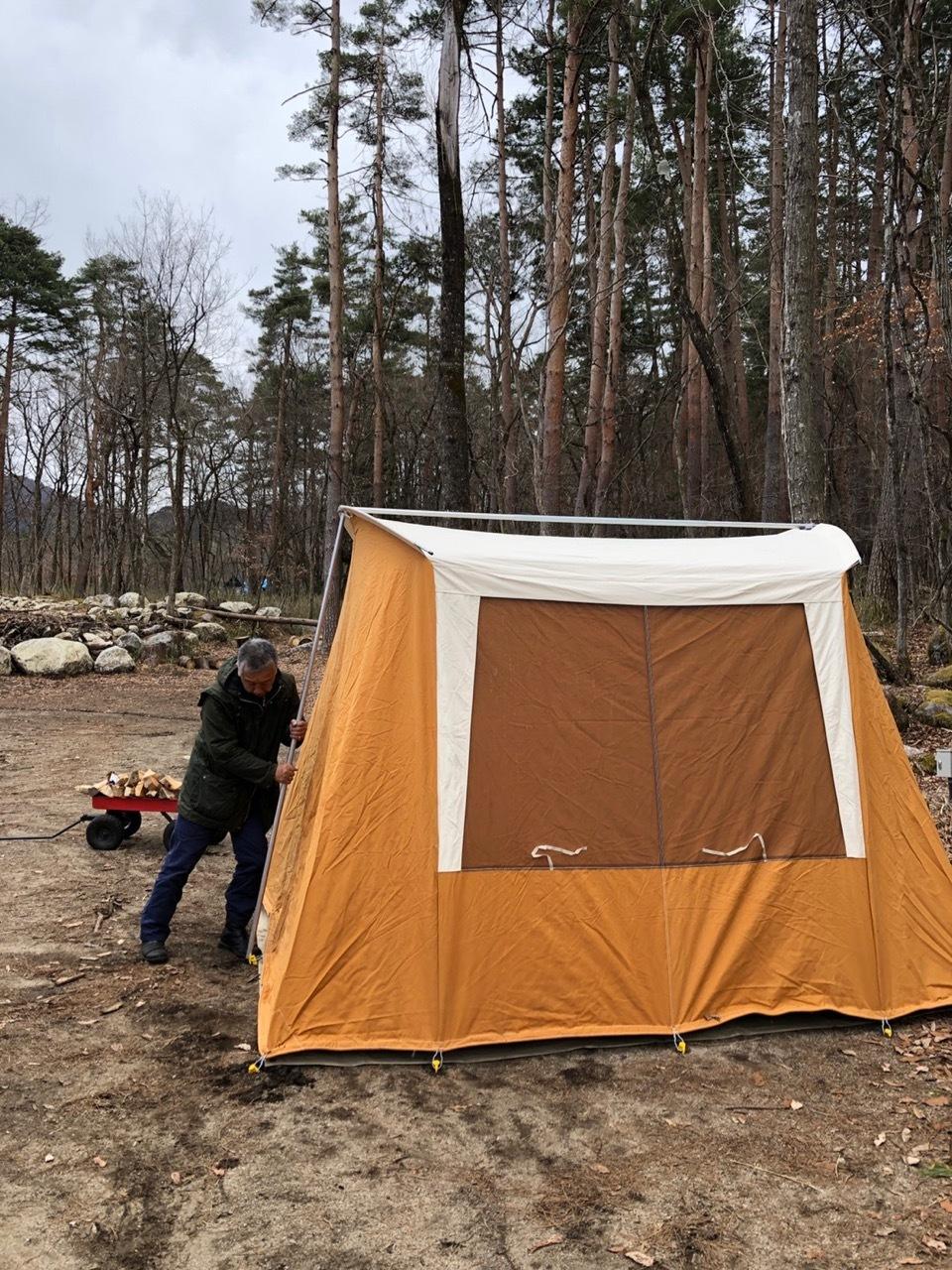 Camp  / 晴れのち雪 直火キャンプ_b0195093_15013171.jpg