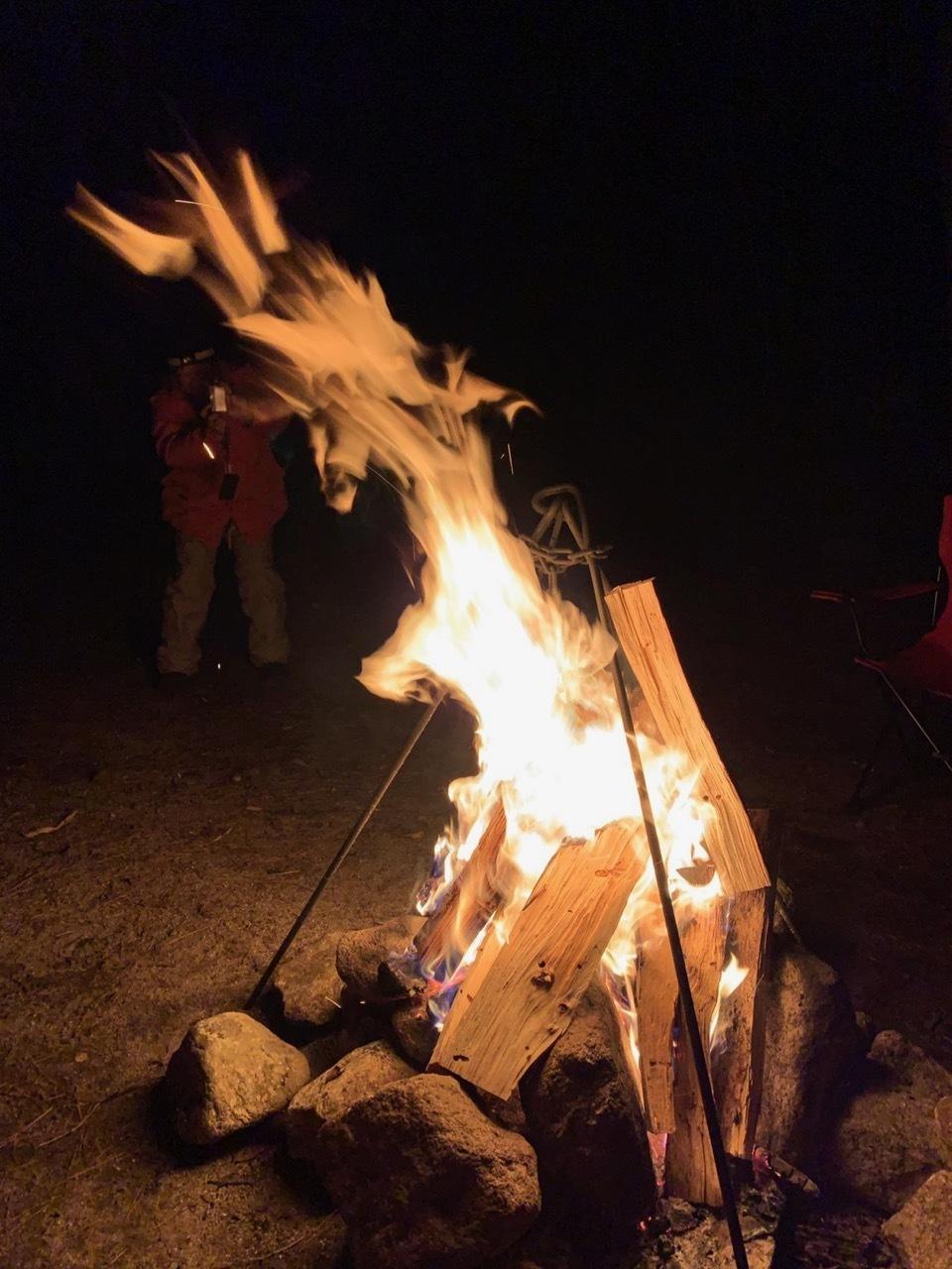 Camp  / 晴れのち雪 直火キャンプ_b0195093_15014595.jpg