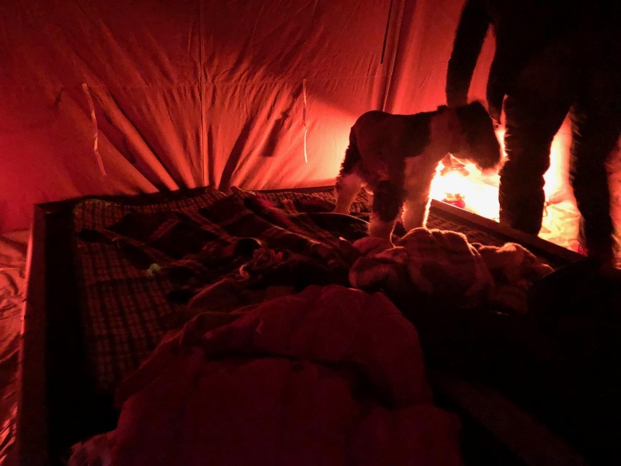 Camp  / 晴れのち雪 直火キャンプ_b0195093_15030747.jpg