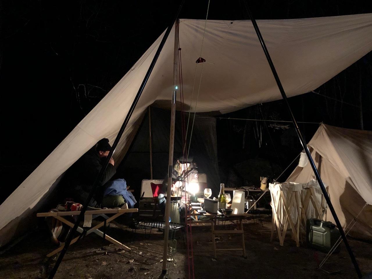 Camp  / 晴れのち雪 直火キャンプ_b0195093_15031589.jpg