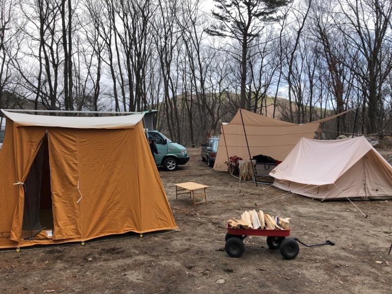 Camp  / 晴れのち雪 直火キャンプ_b0195093_15050703.jpg