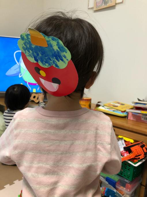 娘ちゃんの春用のどんぐり帽子。_b0135325_21274016.jpg