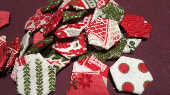 クリスマスカラーでヘクサゴン♪_f0374160_21212944.jpg