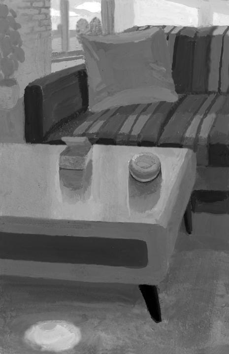 ジャーロ 柄刀一著 本格ミステリー小説第3回「南美希風・国名シリーズ 或るフランスお白粉(しろい)の謎」扉絵/小説挿絵_b0194880_18102470.jpg