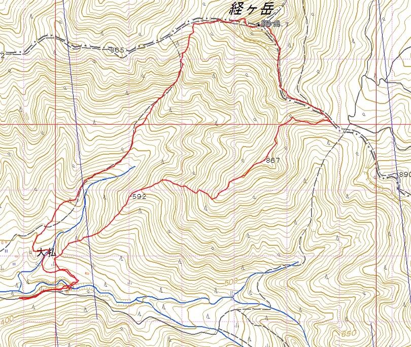 やまびこ会オフ会・・多良岳のはずが経ヶ岳へ_e0164643_16541375.jpg