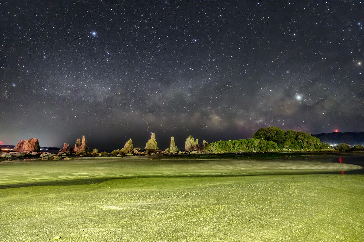 橋杭岩と夏の天の川 3月9日 _d0362961_18523461.jpg