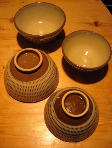 小石原焼 マルダイ窯のご飯茶碗いろいろ_b0153663_18583367.jpg