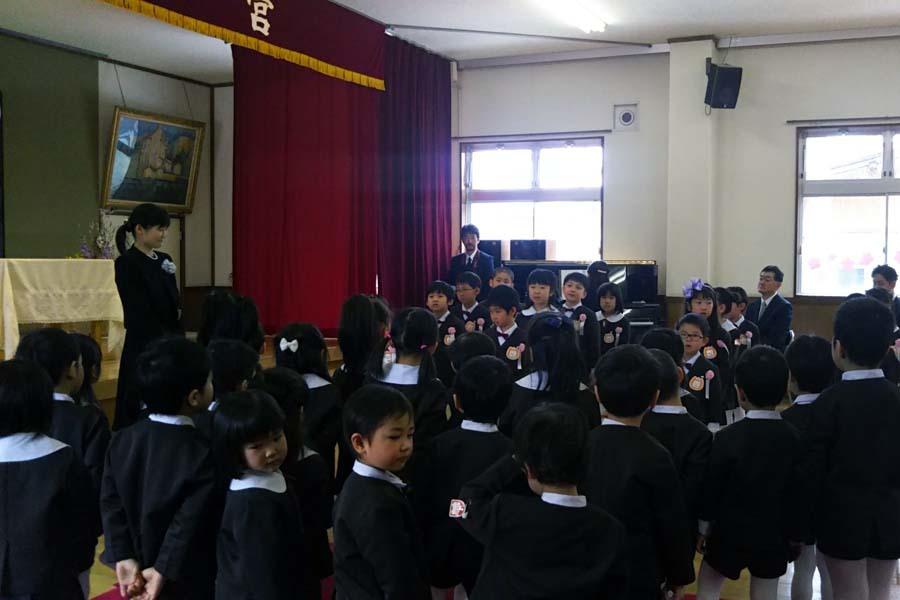 第二幼稚園の「卒園式・修了式」でした。_d0353789_09380213.jpg