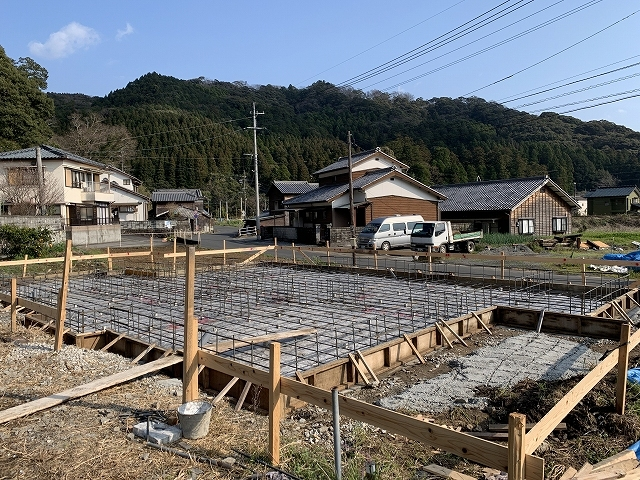 基礎工事が終了しました♪_d0177220_09524023.jpg