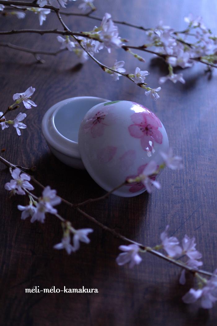 ◆デコパージュ*桜の季節に♪まんまるつやつやのボンボニエール_f0251032_14175323.jpg