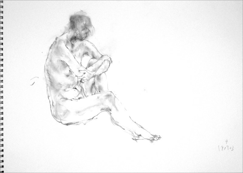 《 弥生三月裸婦素描 8 》_f0159856_06294440.jpg