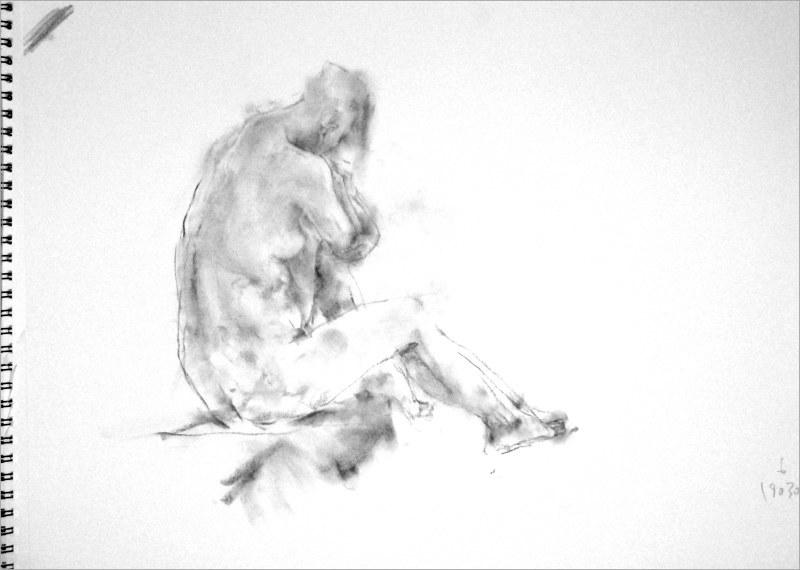 《 弥生三月裸婦素描 9 》_f0159856_06361165.jpg