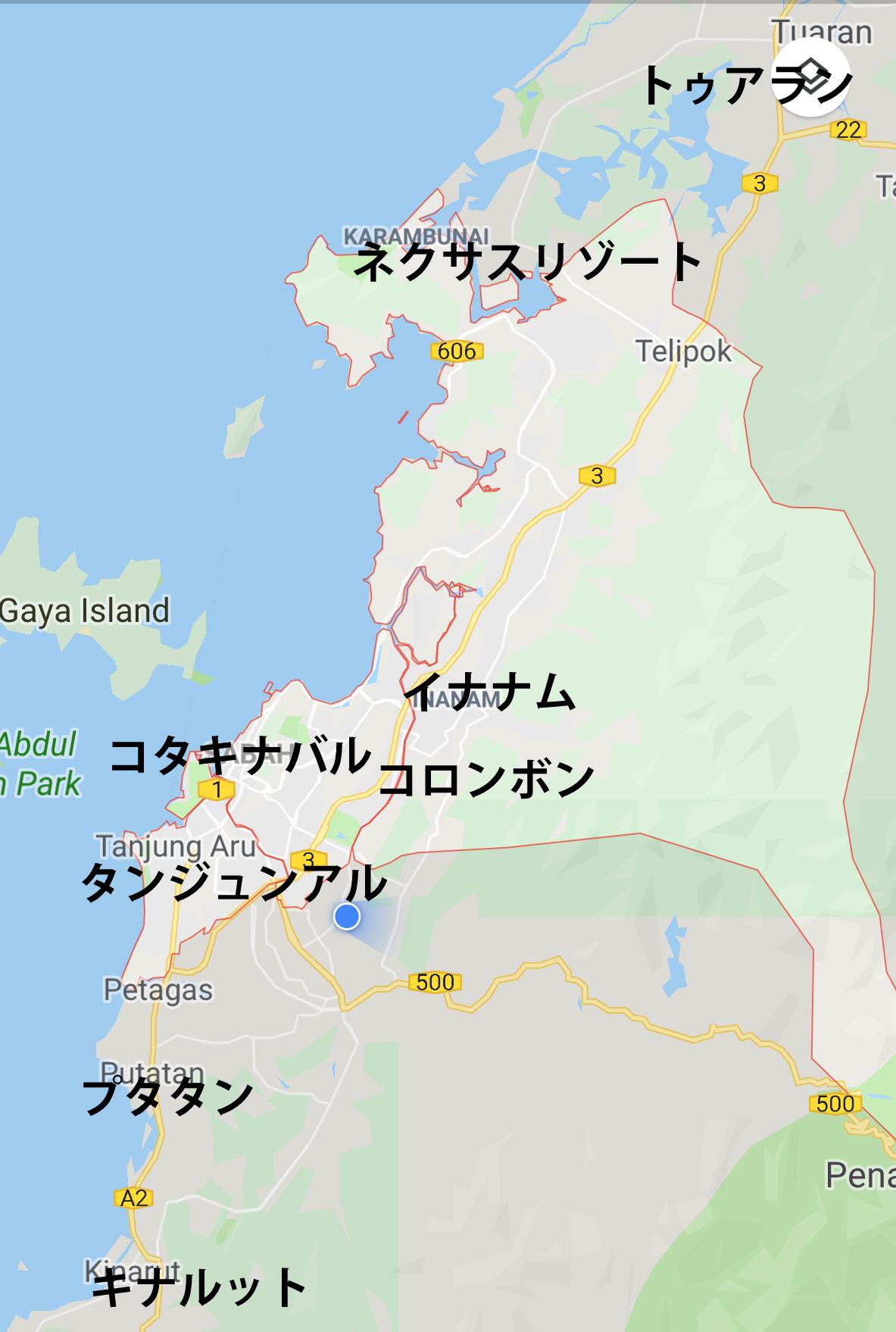 コタキナバル旅行計画。どのエレアに泊まる?_a0132757_06434894.jpg