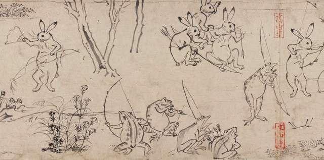 鳥獣戯画、ウサギの体形違う? 前半と後半で別の作者か _b0064113_15151240.jpg