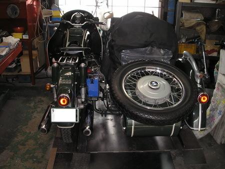 BMW  R69S改+TR500(エンジンを1000ccに乗せ換えています。公認済サイドカー)_e0218639_15451100.jpg