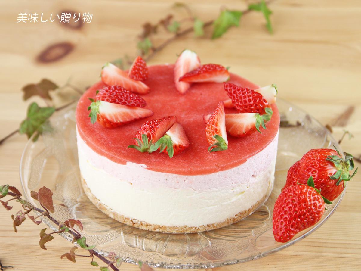イチゴのレアチーズムースケーキ_a0216871_09231709.jpg