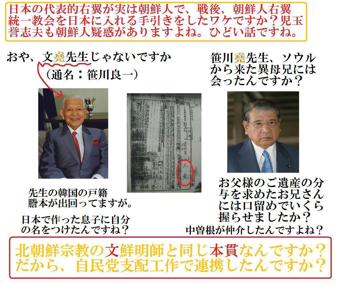 転載: 「笹川さんの韓国の戸籍謄本」...これは知られたくないでしょうね。_d0231432_20202570.jpg