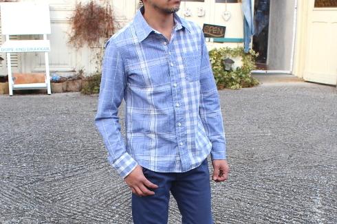 爽やかブルーのMIXシャツが出来上がりました♪_d0108933_19184714.jpg
