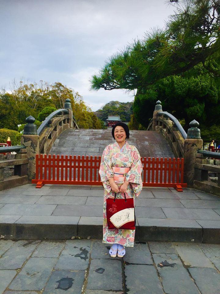着物で憧れの鎌倉を歩く!!_a0126418_22273684.jpg