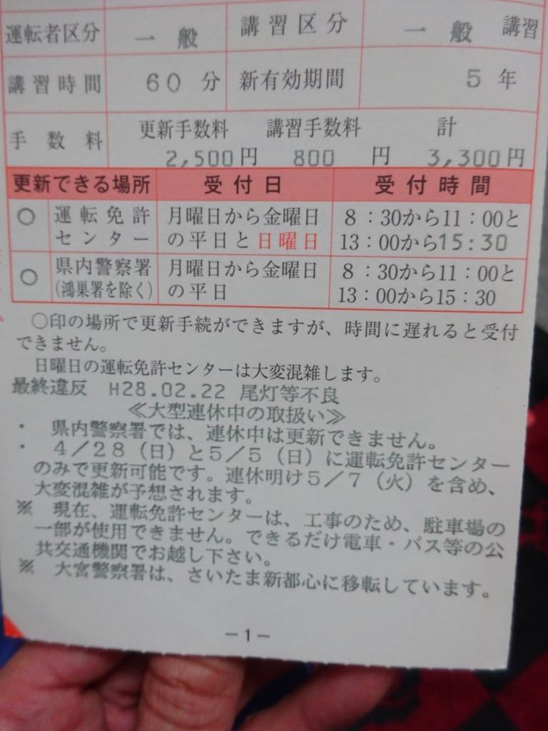 20年ぶり?朝霞警察署で免許の更新が出来る!_d0061678_19295191.jpg