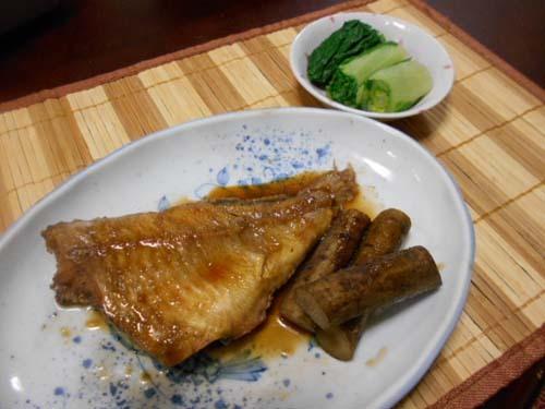 赤魚とごぼうの煮付け_f0019498_19575047.jpg