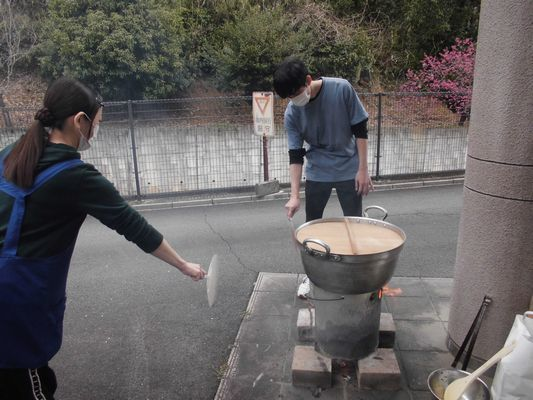 3/22 炊き出し訓練_a0154110_09250768.jpg