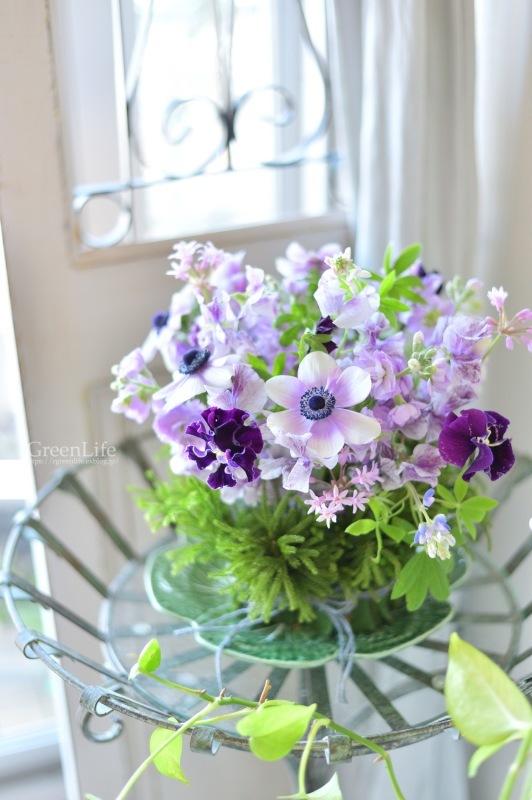 キャベツのお皿に春のお花を♪_f0321522_10283150.jpg