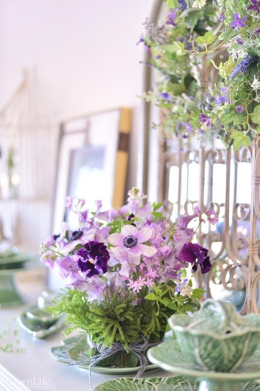 キャベツのお皿に春のお花を♪_f0321522_10443138.jpg