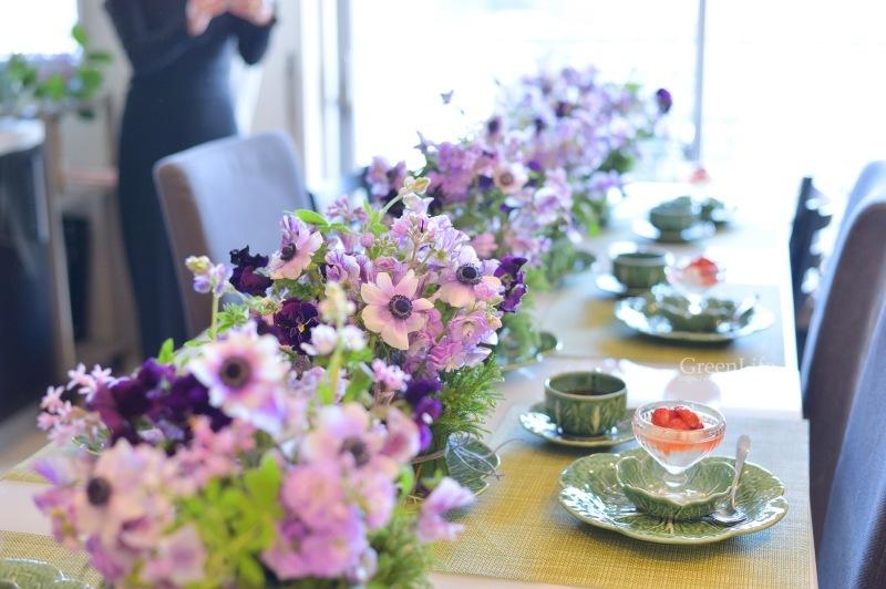 キャベツのお皿に春のお花を♪_f0321522_10475975.jpg