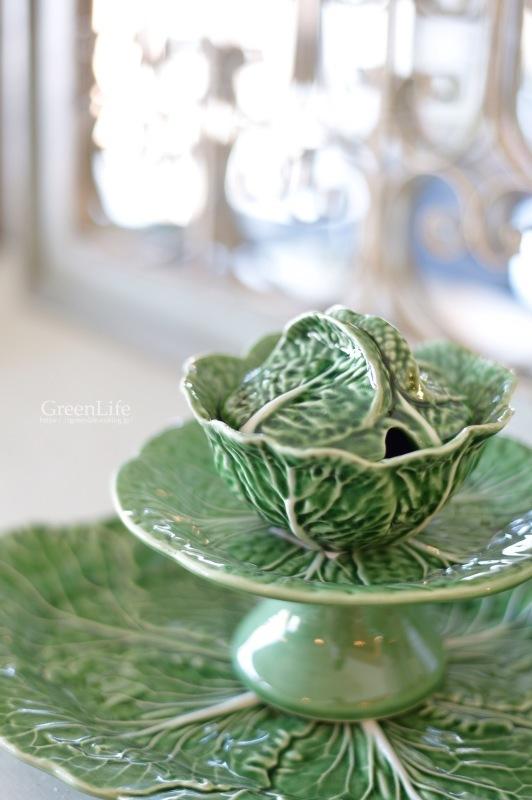 キャベツのお皿に春のお花を♪_f0321522_10505043.jpg