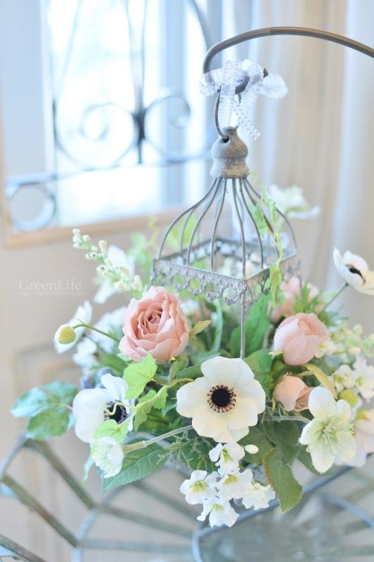 キャベツのお皿に春のお花を♪_f0321522_11034602.jpg