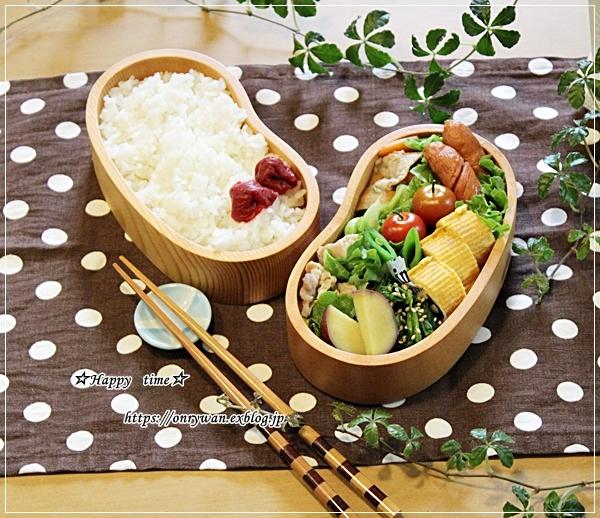 春キャベツと豚肉の柚子胡椒炒め弁当とリク♪_f0348032_18023325.jpg