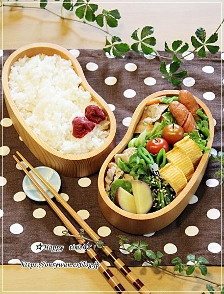 春キャベツと豚肉の柚子胡椒炒め弁当とリク♪_f0348032_18024006.jpg