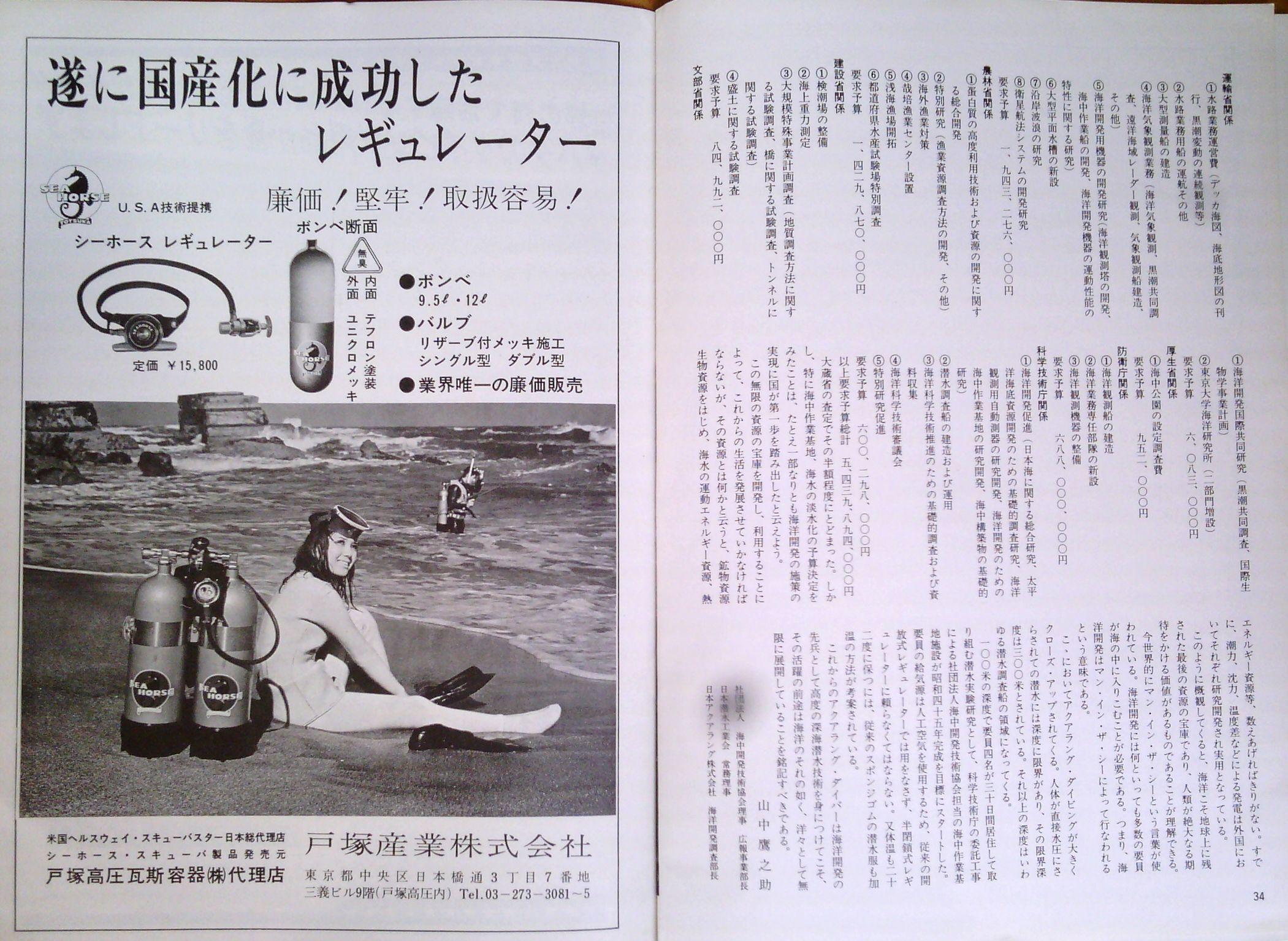 0323  ダイビングの歴史56  マリンダイビング創刊1969_b0075059_14284388.jpg