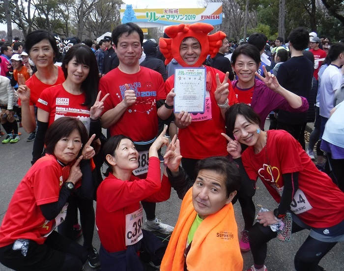 ◆大阪城リレーマラソン2019 ~いいタイムで打上げも盛り上がる♪~_f0238779_15082383.jpg