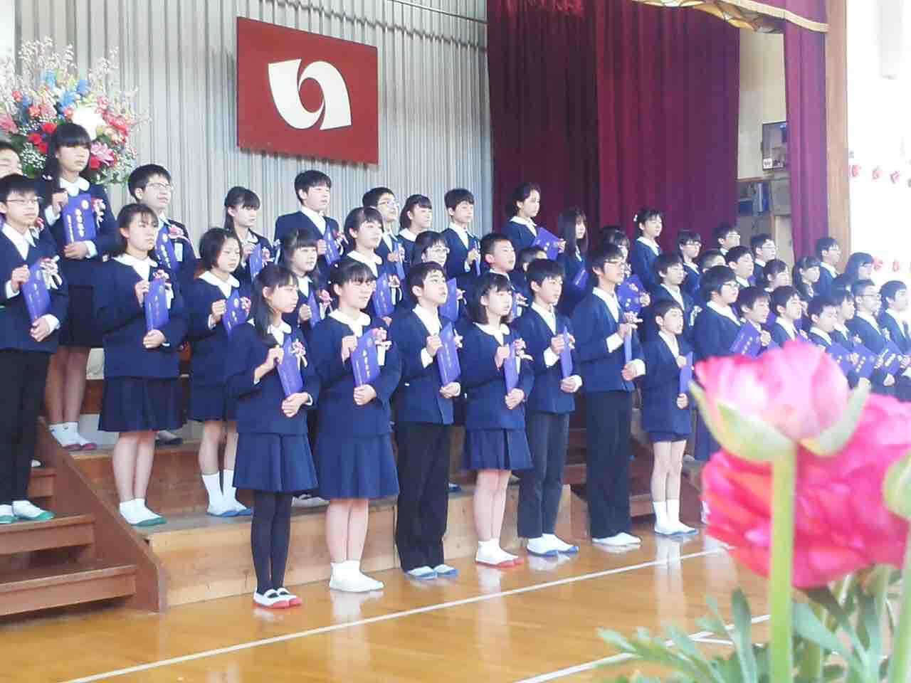 鹿島小の卒業証書授与式_e0068696_831116.jpg