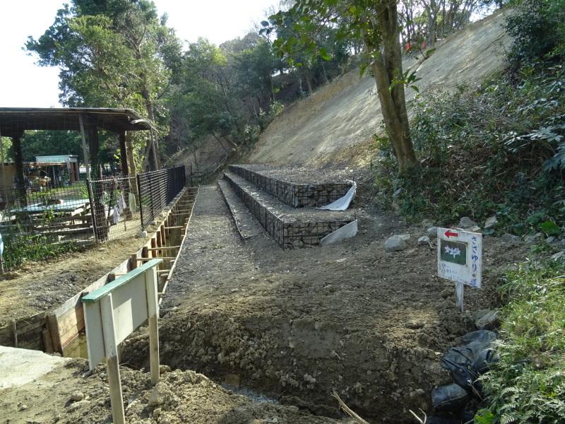 災害復旧工事終了⇒周辺の整備作業に取り掛かった・・・うみべの森_c0108460_18465074.jpg